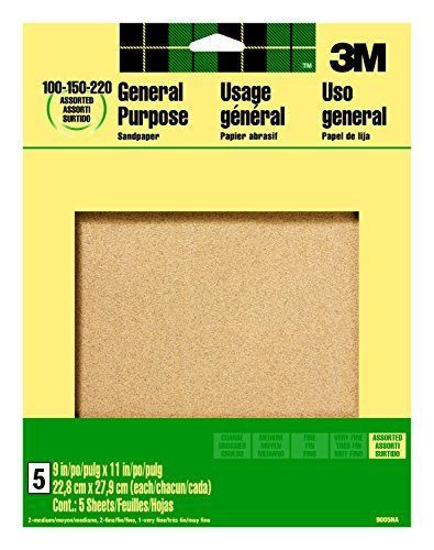 Fbas-martfbamt090051-3m 9005na 9-inch by 11-inch aluminum oxide sandpaper, asso