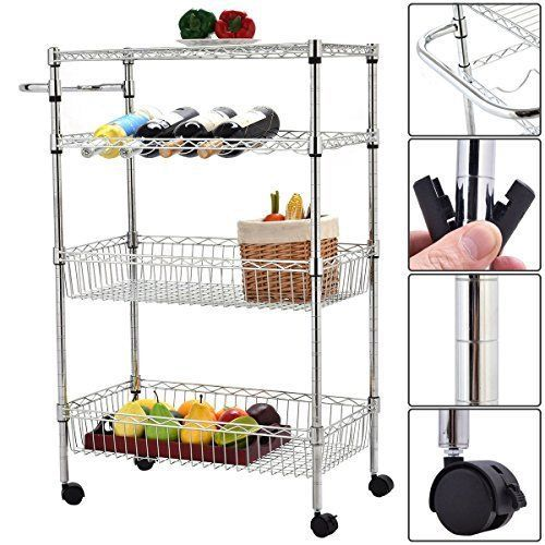 Grocery cart on wheels for seniors apartments kitchen cabinets garage housing