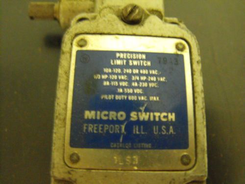 Micro Switch?Precision Limit Switch, Pilot Duty 600v max, US $20.00 � Picture 4