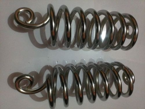 "6"" chrome large lycette seat / saddle springs -2 mounting springs"