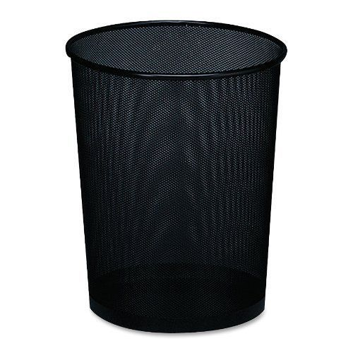 Rolodex mesh metal wastebasket metal black garbage bin can basket round office #