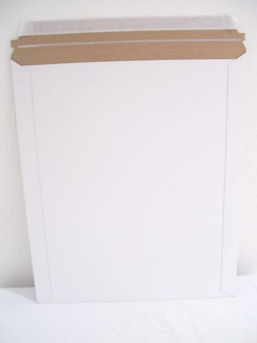 "22 rigid white self-sealing stay-flat mailers uline 12.5""x15"" stiff envelopes"
