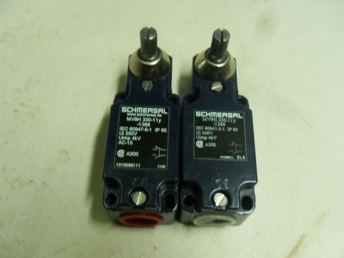 (n3-2) 2 new schmersal mv9h330-11y-1366 limit switches