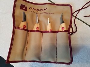 Flexcut 4pc knife set wood carving tools cutting detail