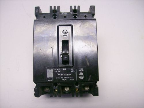 Westinghouse EB 3030 30A, 240V,3 Pole Circuit Breaker – Picture 1