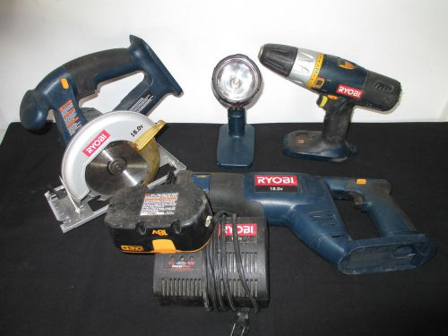 6PC RYOBI Cordless 18V Tool Set, Saw, Flashlight, Drill & More, SEE DETAILS � Picture 1