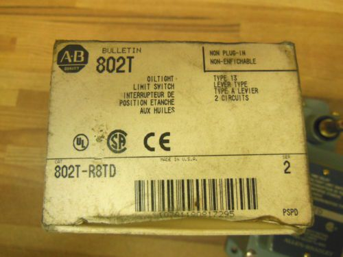 Allen Bradley 802T-R8TD ser.2 oil tight limit switch lever type 2 circuits, US $45.00 � Picture 3