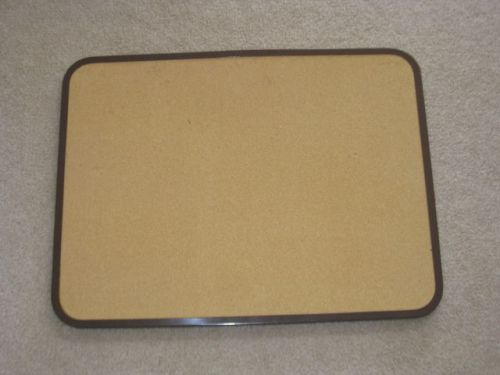 24� x 18� cord bulletin board w brown metal frame � hangs both directions