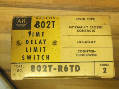 "Allen Bradley 802T-R6TD Oil tight limit switch ""time Delay"", US $85.00 � Picture 4"