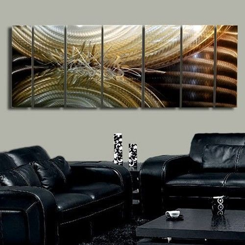 Modern contemporary metal wall art painting - perception of energy 2 - jon allen