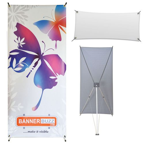 X banner stand + blank banner combo 2' x 5'