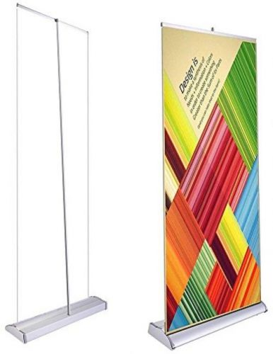 Deluxe 33 x79 retractable rollup banner stand trade show display sign holder