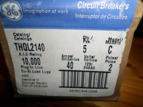 5 pk THQL2140 GE 2 pole 40amp circuit breakers NEW � Picture 4