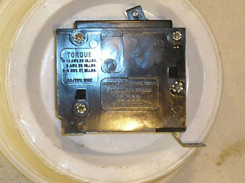 Westinghouse quicklag circuit breaker type ba 1p 20a bolt on