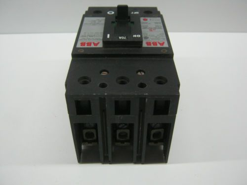 USED, ABB TYPE ES, UXAB-727131-R117, 3-POLE 70-AMP, CIRCUIT BREAKER, US $50.00 – Picture 3