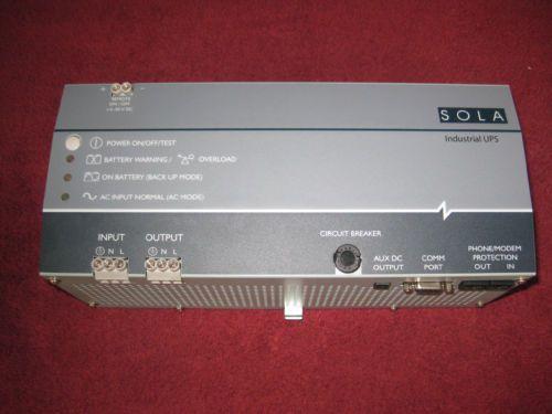 SOLA HEVI-DUTY INDUSTRIAL UPS CAT: SDU-500 120 VOLT 500 VA
