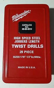 Milwaukee  no.48-49-0010 vintage 29 piece drill index never used