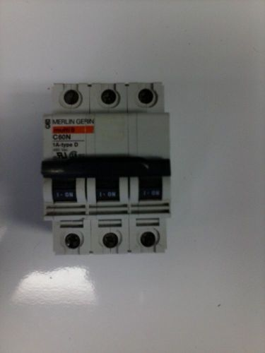 Merlin gerin multi9 c60n 1 amp type d 3 pole circuit breaker 480 vac
