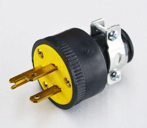 Box Of 10 New 3-prong Plugs - Black - Cooper 1709-box