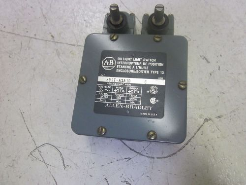 Allen bradley 802t-a2a1d ser.c oil tight limit switch 600vac *used*
