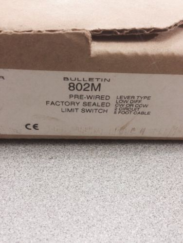 NEW IN BOX ALLEN-BRADLEY PRE-WIRED LIMIT SWITCH 802M-AY5 SERIES F, US $90.00 � Picture 3
