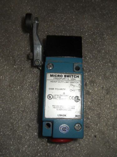 (v23-1) 1 used micro switch lsa3k heavy duty limit switch