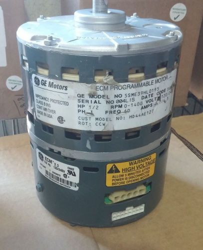 GE ECM 5SME39HL0193 1/2HP 120/240V CCW HD44AE127 Blower
