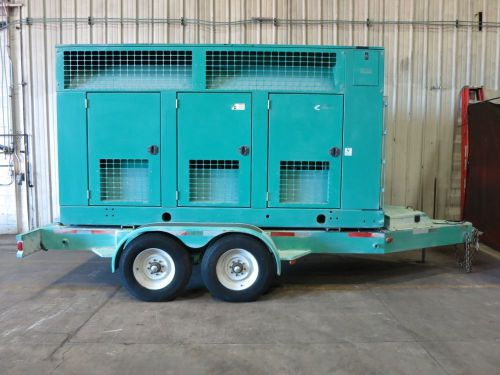 Used cummins 400 kw diesel generator set, model dfeh 60 hz, portable / trailered