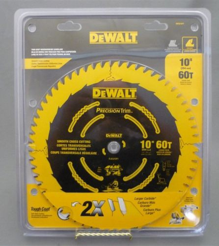 "Brand new 10"" dewalt 60 tooth carbide circular saw blade for wood tough coat"