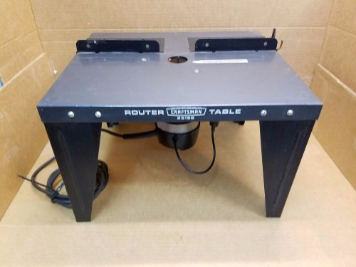 Craftsman router table 25168 w/craftsman router no. 315.17380 1 hp, 6.5 a