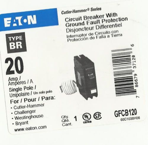 NEW  EATON CUTLER HAMMER GFCB120 20 AMP GFCI CIRCUIT BREAKER (FREE SHIPPING), US $23.99 – Picture 2