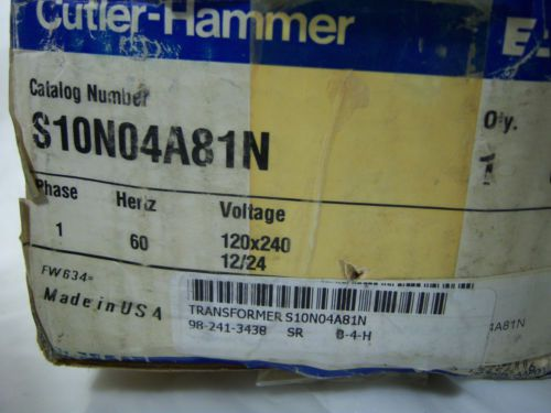 (0015) Cutler Hammer Transformer S10N04A81N .05KVA 1PH, US $102.22 � Picture 2