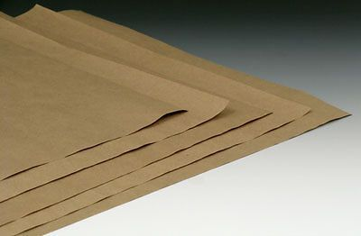 "24"" x 36"" kraft wrapping paper sheets (50 lb.) (500 sheets)"