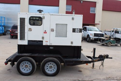 2012 perkins / warren power systems - nps p 80 generator - super low hours 1,535