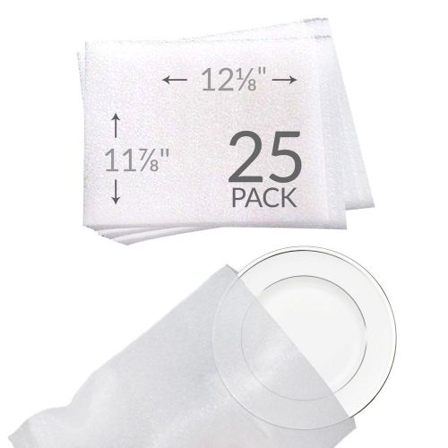 Uboxes   11-7/8x12-1/8 foam wrap cup pouches protect dishes and fragile items