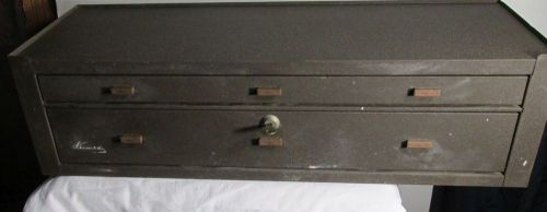 KENNEDY MC-28 Machinist Tool Box Base Riser CLEAN~ WITH KEY � Picture 1