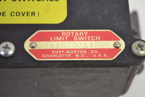 NEW DUFF NORTON SKA6000A40 ROTARY LIMIT SWITCH D366210, US $32.68 � Picture 2