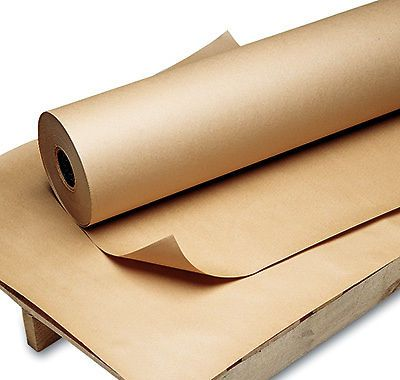 "36"" x 600' poly-coated kraft wrapping paper (60 lb.) (1 roll)"