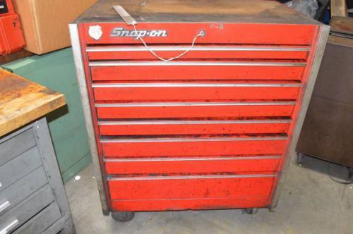Snap-on 8 drawer rolling tool cart w/ key kr-655b