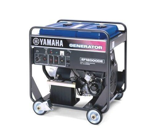 Yamaha ef12000de 12,000 watt 635cc ohv 4 stroke gas powered portable generator
