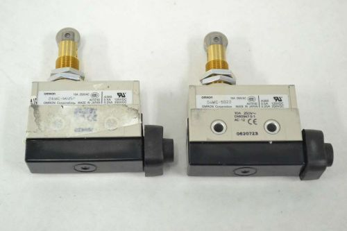 Lot 2 omron d4mc-5020 roller limit switch 10a amp 250v-ac b368637