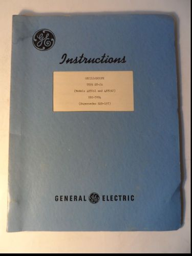 1950 General Electric Oscilloscope St 2a Ebi 7004 Instructions