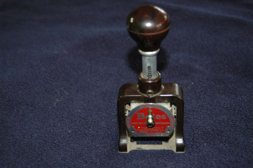 Vintage bates numbering machine - stamp 6 wheel standard movement style a