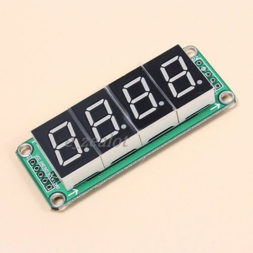 74hc595 static drive 4 segment digital display module 0.5 inches 4-way red