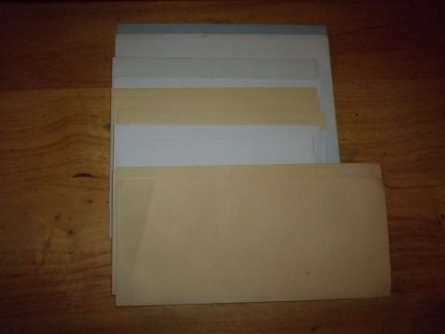 New white colored envelopes lot of  25 assorted sizes
