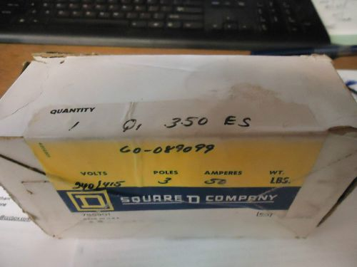 Square d q1-350 new in box 3 pole 50 amp 240/415 volt #b7