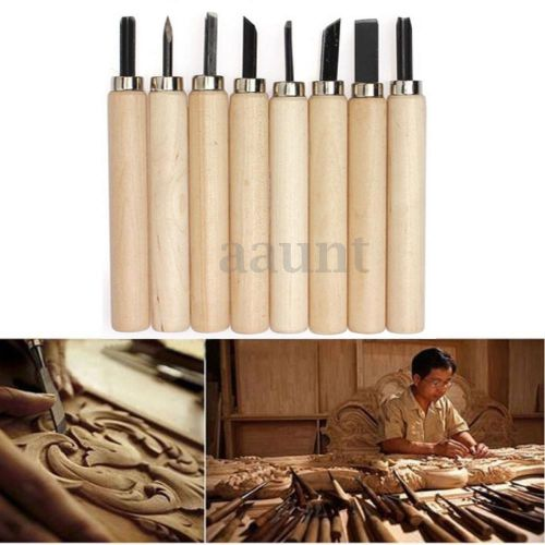 8pcs pottery wood carving hand chisel tool set woodworkers gouges professional