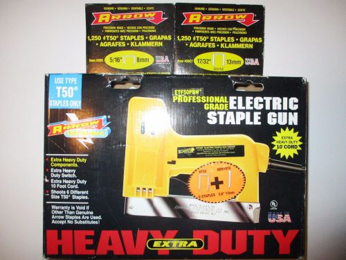 Arrow electro matic electric staple gun etf-50p w/ staples