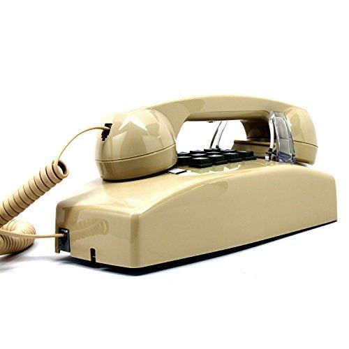 Globalsource wall phone, single-line, 2554 traditional style analog telephone,