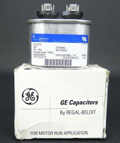 GE REGAL BELOIT 27L570 CPT00072 5uf 370 VAC NEW NIB